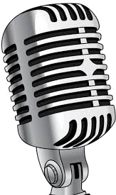 microphone in black and white color